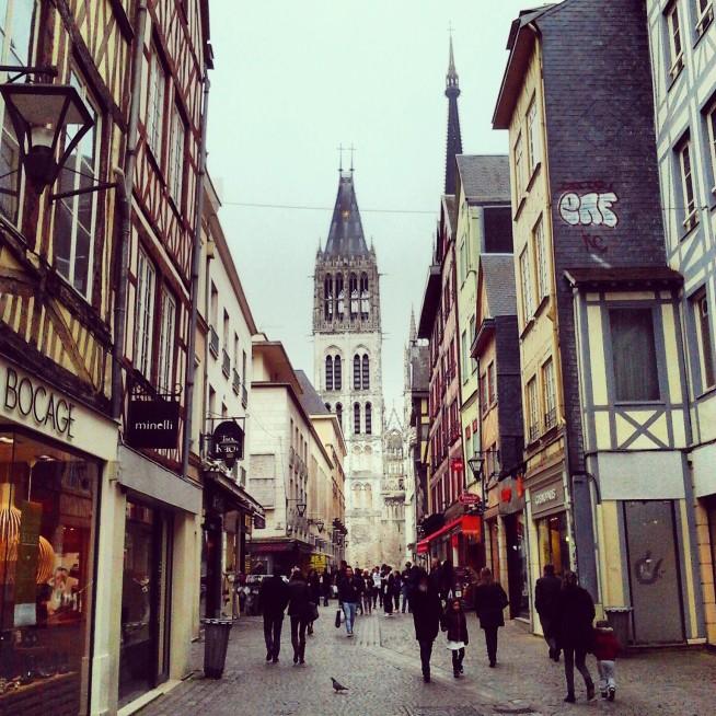 Rue du Gros Horloge, Rouen.