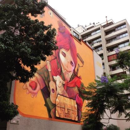 Inti Castro mural, Bellas Artes.