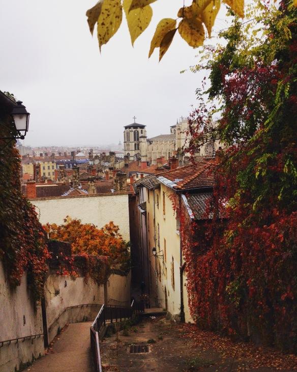 The climb to Fourvière.