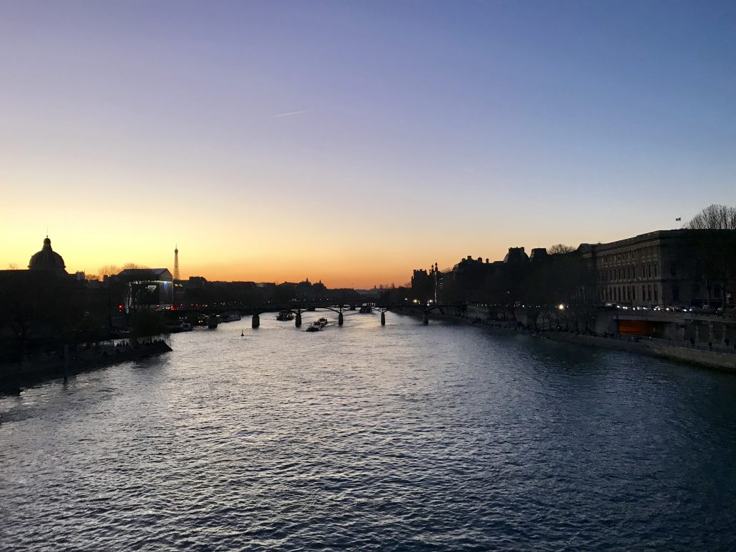 An evening walk in Paris is always a good idea.
